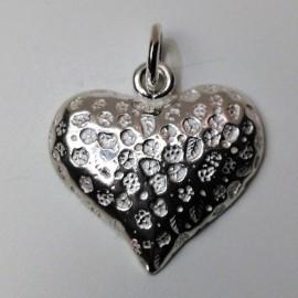 colgante corazon plata