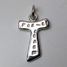 Cruz de Tau plata