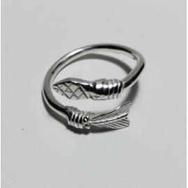 anillo flecha plata