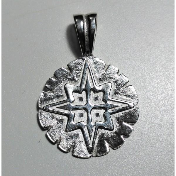 9bbac7b804b1 colgante Rosa de los vientos plata