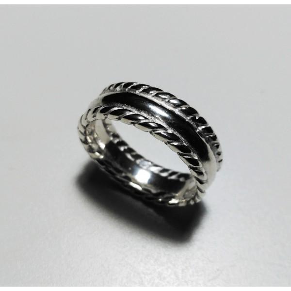anillo hilo trenzado y media caña