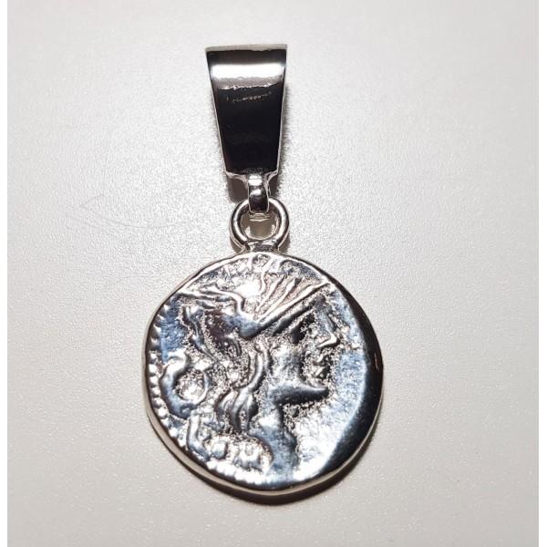 Colgante de plata moneda romana