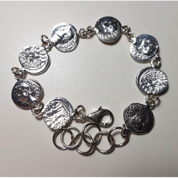 pulsera de plata moneda denario