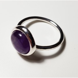 anillo de plata con piedra