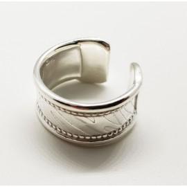 anillo de plata tibetano ajustable