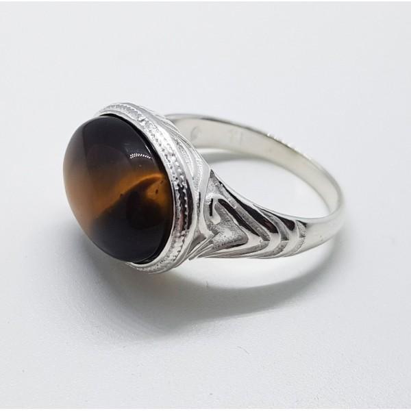 anillo tibetano piedra oval