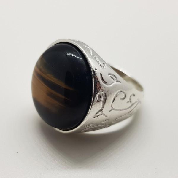 anillo de plata indio con piedra