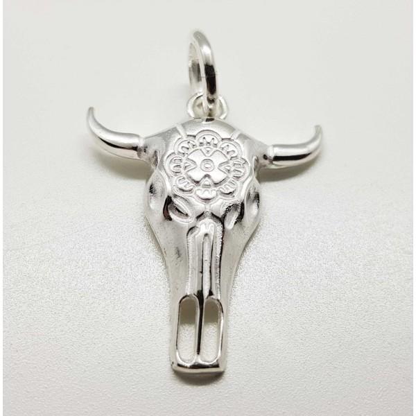 colgante bufalo plata