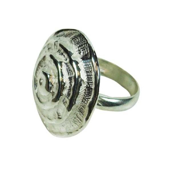anillo de plata espiral