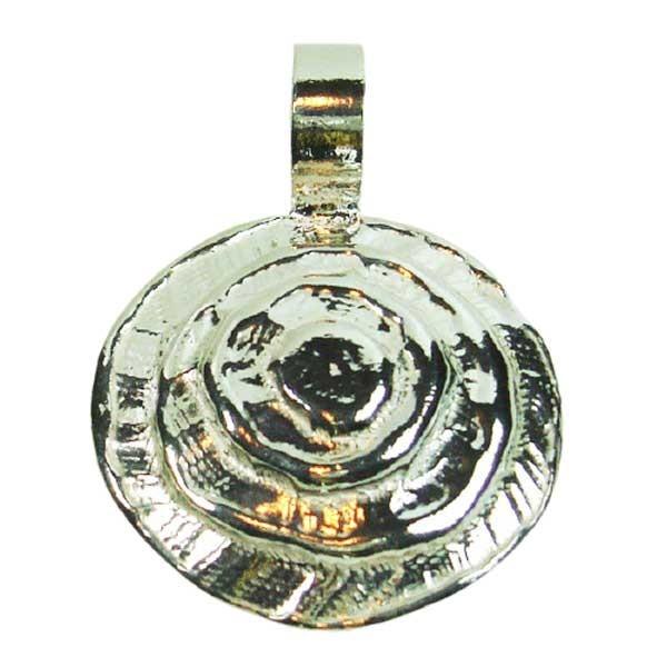 Colgante de plata espiral