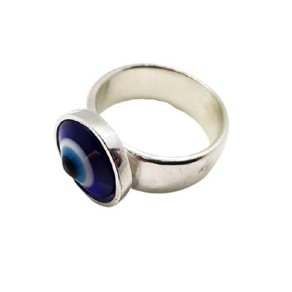 anillo ojo turco plata
