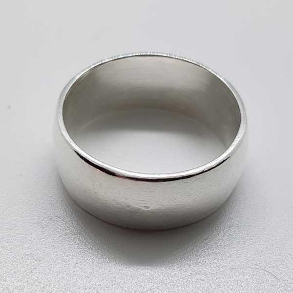 anillo ancho plata