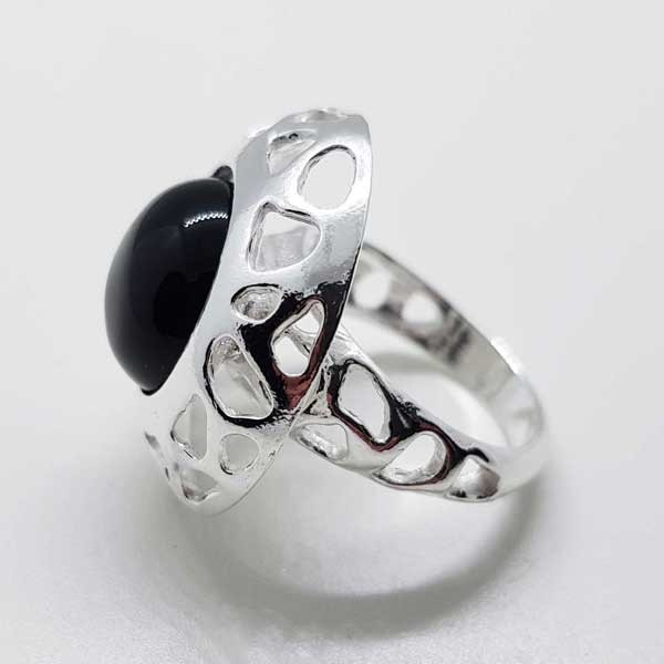 anillo calado onix