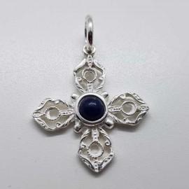cruz tibetana plata