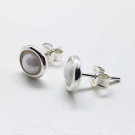 pendientes cerámica plata