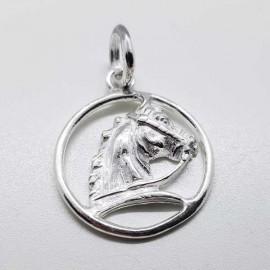 colgante caballo plata
