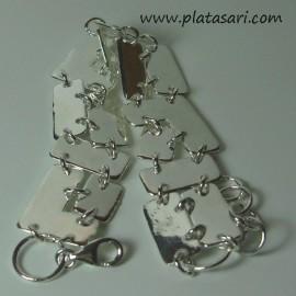 Pulsera de plata puzzle