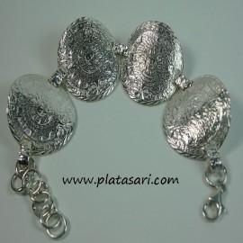 Pulsera azteca de plata