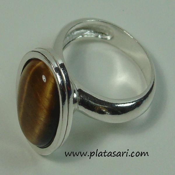 Anillo de plata piedra oval
