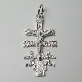 Cruz de Caravaca en plata.