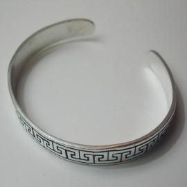 pulsera de plata cenefa romana