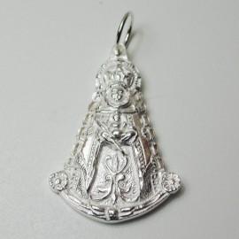 colgante virgen del Rocio plata