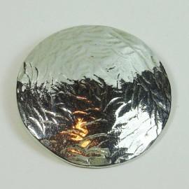 Colgante de plata redondo textura