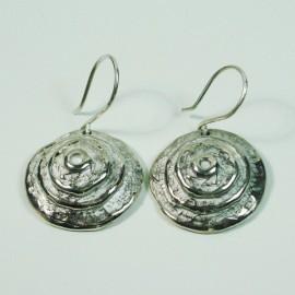 Pendientes de plata espiral
