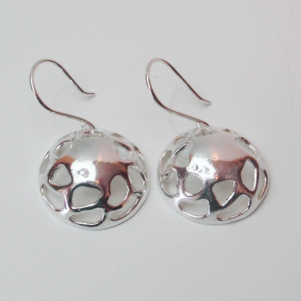 Pendientes plata calados diseño