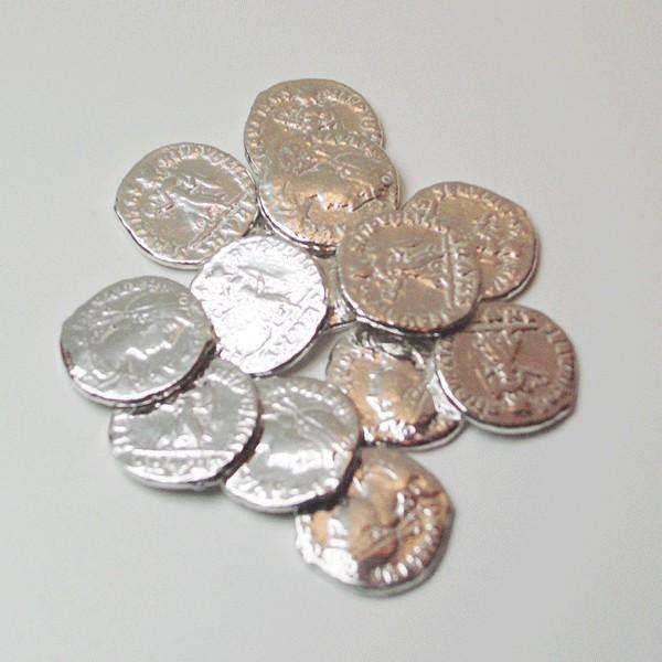 Arras de plata de ley monedas