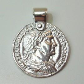 Colgante moneda romana Trajano