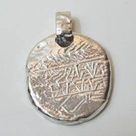 Colgante de plata moneda Obulco