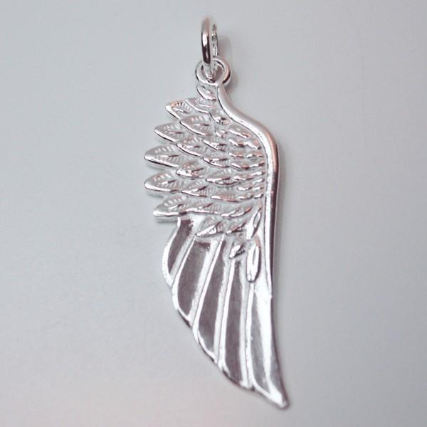 Colgante alas de angel plata