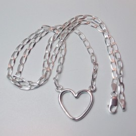 Colgante de plata corazon