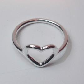 anillos de corazon de plata