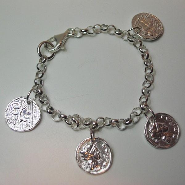 Pulsera rolo y monedas